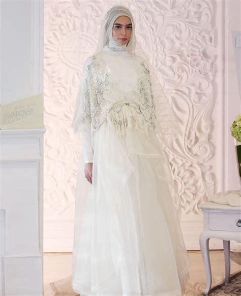 Setelan Gaun Bridal Kebaya Pengantin 34 inspirasi model busana pernikahan muslim terkini nibinebu