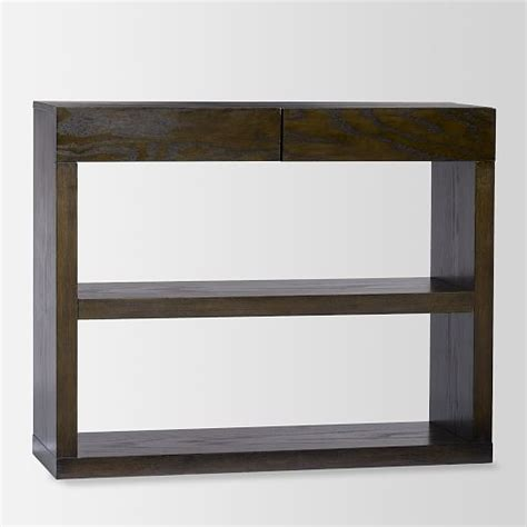 bookshelf console west elm