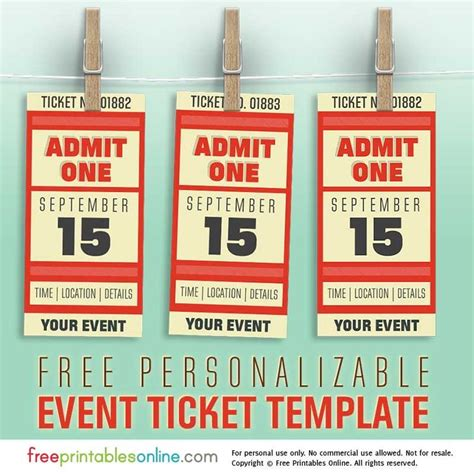 free event ticket template printable 23 best event tickets images on event tickets