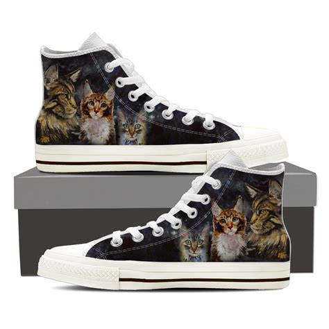 sneakers with cats on them maine coon cat shoes groove bags