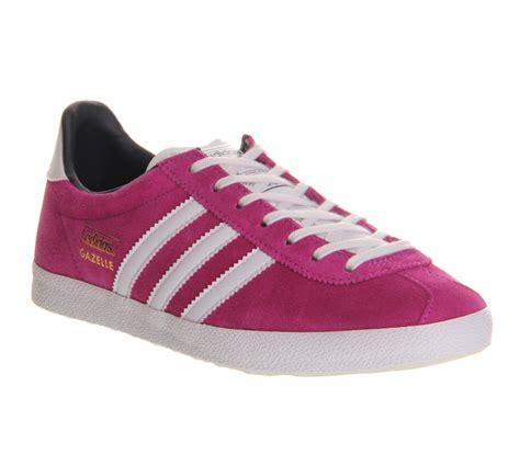 adidas gazelle pink lyst adidas gazelle og w in pink