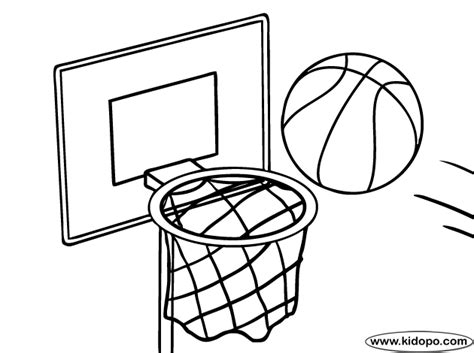 basketball net coloring pages basketball and net coloring page