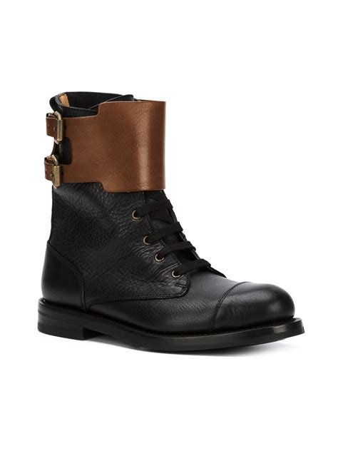 vivienne westwood buckle boots in black for lyst