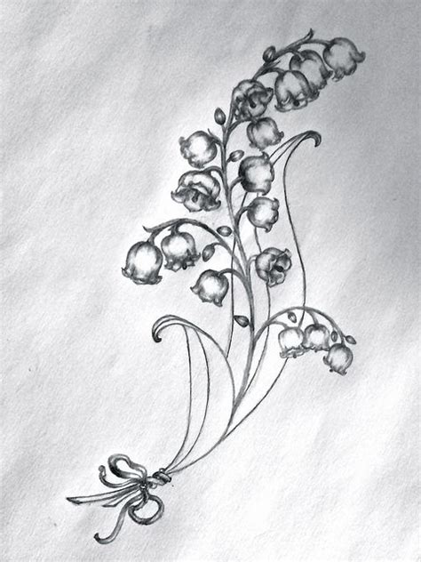 collection of 25 lily of the valley tattoo
