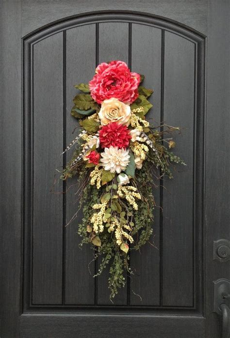 25 best ideas about floral swags on door swag