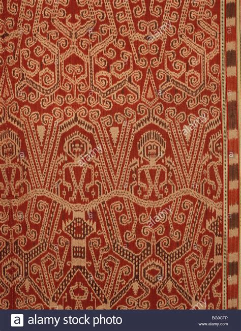 Borneo Ikat ceremonial ikat of iban dayak in sarawak borneo malaysia