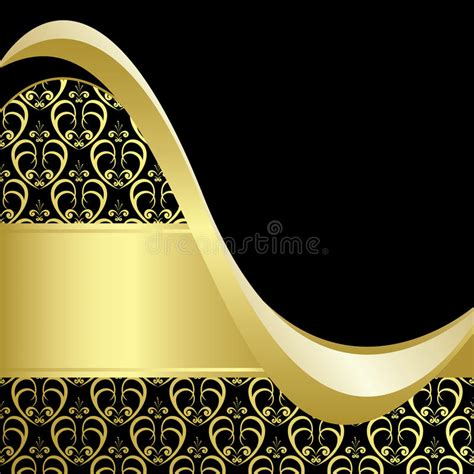 gold pattern card stock black and gold bright card with gold pattern eps stock