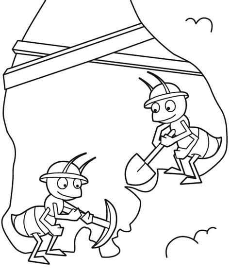 dibujos infantiles para colorear de hormigas colorear hormiga