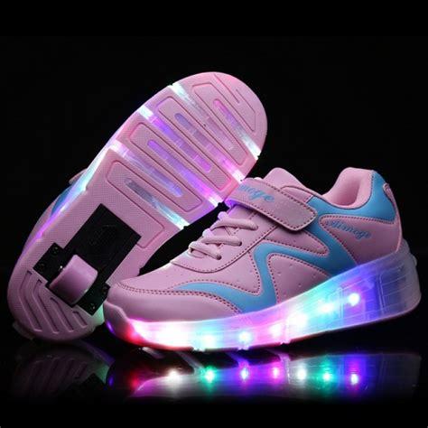 Sepatu Led Shoes Junior new 2016 child wheely s jazzy led light roller skate shoes