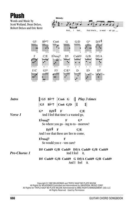 Plush Guitar Chords
