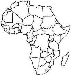 Map Of Africa Coloring Page best photos of africa map drawing africa map outline