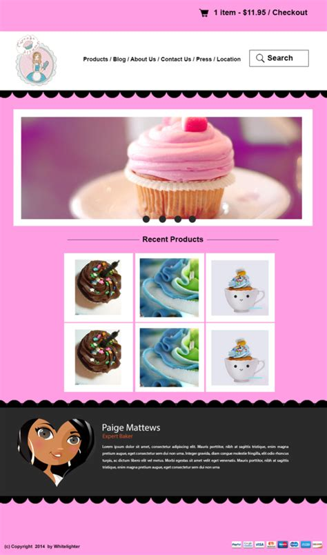 Cupcake Shop by Cupcake Mock Up Packaging Template 187 Designtube Creative