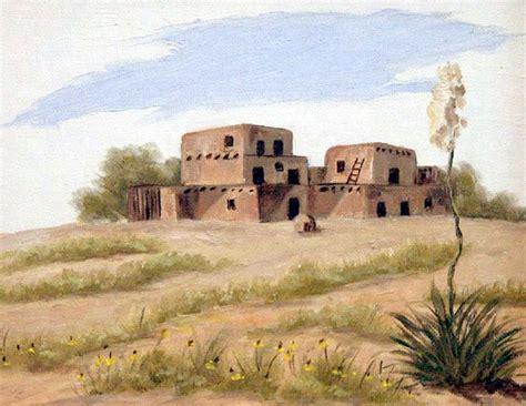 adobe houses simple desert scenes my texas mornings