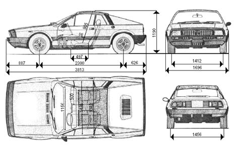 car dimensions in lancia montecarlo dimensions and weight