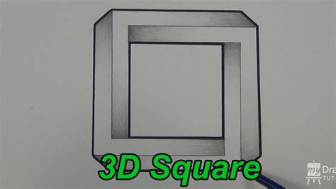 Square 3d how to draw an impossible square 3d square impossible