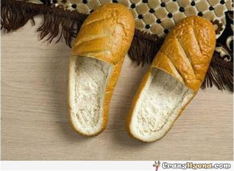 food slippers bread made slippers called loafers
