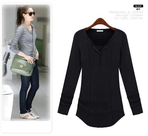Kemeja Polos Tangan Panjang Korea Wanita New Premium Product cari tahu soal seluk beluk baju kaos lengan panjang wanita shopashop