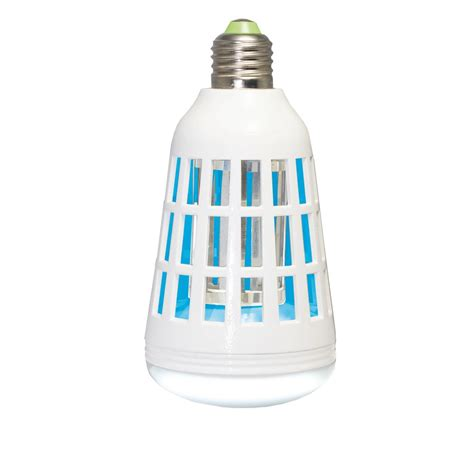 Bug Light Bulbs Led Zapbulb Bulb 75w Equivalent 2 In 1 Led Light Bulb And Bug Zapper Zb1000 The Home Depot