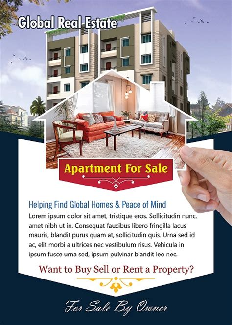 Apartment For Sale Flyer Template Photoshop Version Free Flyer Templates Apartment Flyer Template