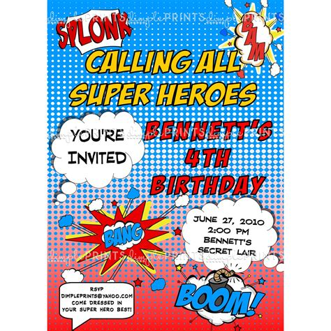 9 best images of free superhero printable invitations