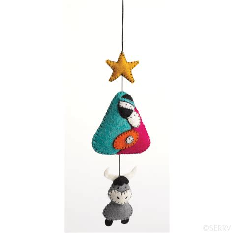 holiday whimsical nativity ornament