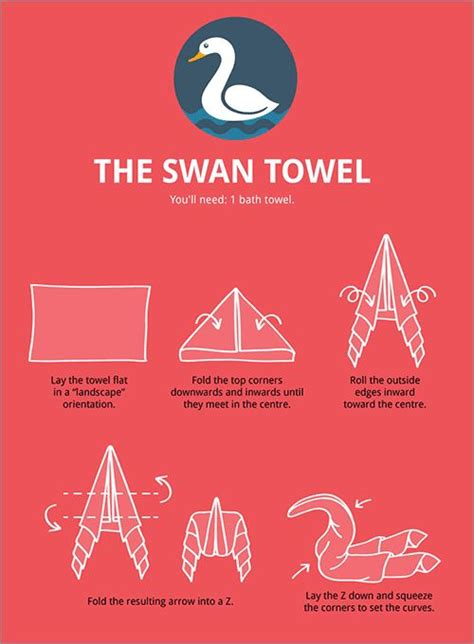 How To Fold A Paper Towel - 13 best images about swan towels on the
