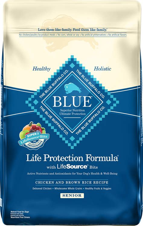 blue buffalo food blue buffalo protection formula senior chicken brown rice recipe food