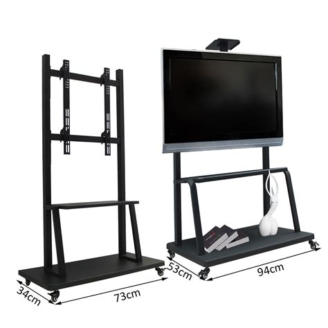 mobile tv mobile homcom mobile tv stand 42 quot 70 quot flat screen black