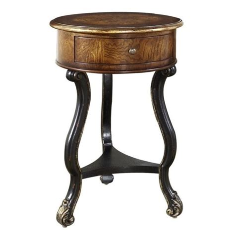 pulaski accents side table in black 641065 pulaski accents accent table in latham ebay