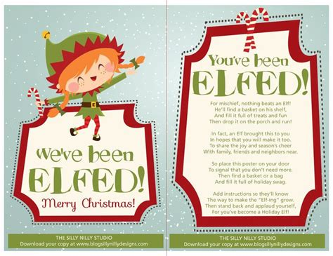 you ve been elfed family neighborhood christmas fun free