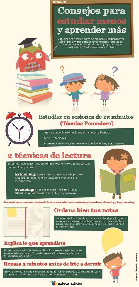 imagenes de hablar menos y hacer mas consejos para estudiar menos y aprender m 225 s infografia