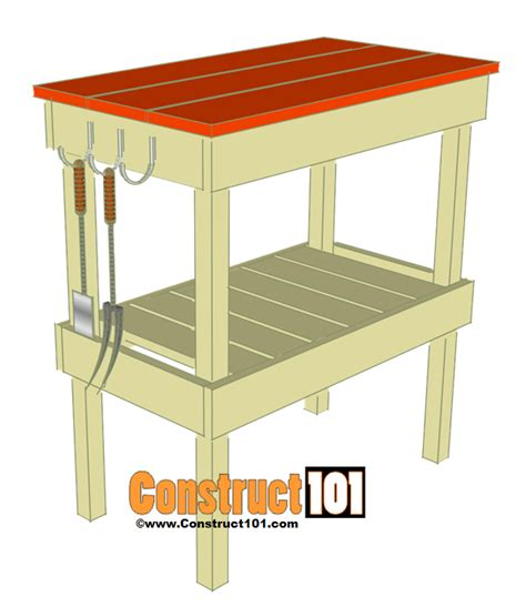 bbq bench bbq table plans construct101
