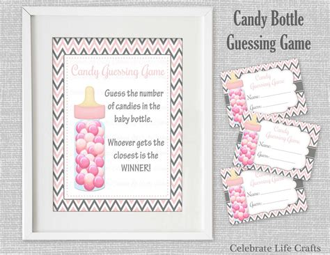 Baby Shower Guessing Template by Baby Shower Printable Bottle Guessing