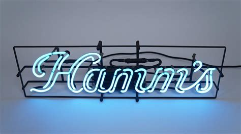 what were beer neon colors in the 50s and 60s 1940 s 50 s hamm s stroke neon script tavern sign