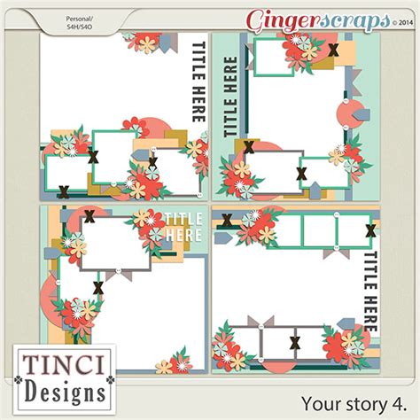 write your own tale template gingerscraps templates your story 4