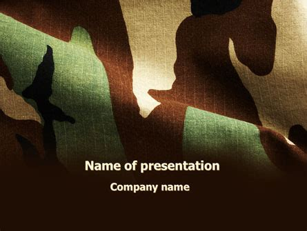 camouflage powerpoint template woodland camouflage presentation template for powerpoint
