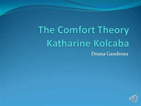 Definition Of Comfort Care by The Comfort Theory 2 Authorstream