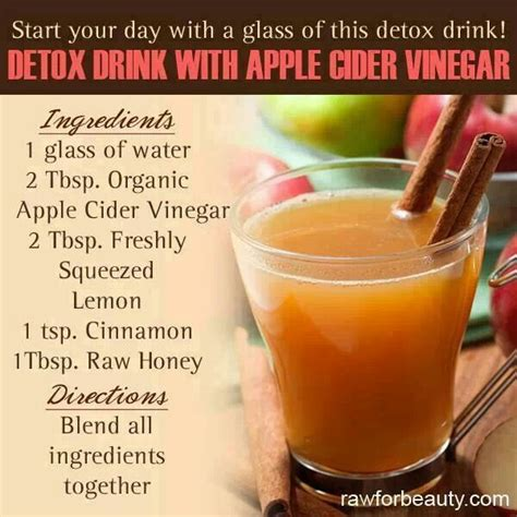 Detoxing Water For Anxiety by Detox Drink W Apple Cider Vinegar N Health