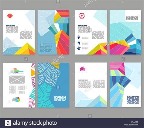 Booklet Template by Flyer Leaflet Booklet Layout Set Editable Design