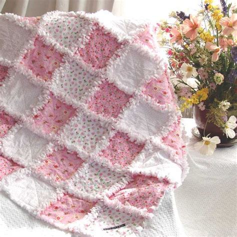 baby rag quilt sweet flowers a quilts just 4