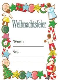 Word Vorlage Weihnachtsfeier Weihnachtsfeier Einladung Kinder