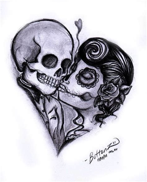 skull kissing tattoo 33 best sugar skull tattoos images on