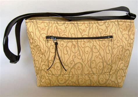 Unique Handmade Fabric Bags Purses - gold fabric tote purse handcrafted handbag unique shoulder