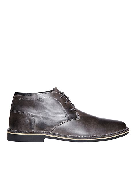 grey chukka boots steve madden hestonn leather chukka boots in gray for