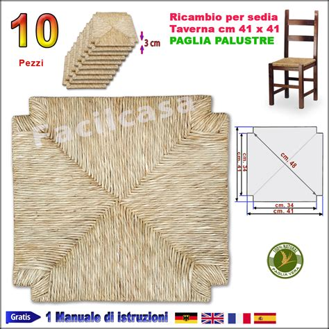 sedute in paglia sedute per sedie pronte in paglia palustre 10 seduta