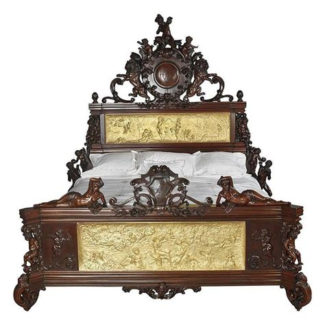 Carved Bed Frames Austrian Neo Baroque Carved Mahogany Bed For Sale At 1stdibs