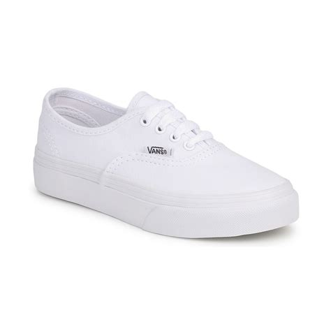 cheap vans authentic low top shoes true white vans shoes