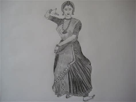 pencil sketches  paintings kuchipudi dancer