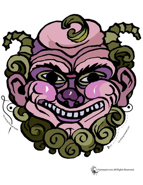 printable greek mythical creature mask woo jr kids