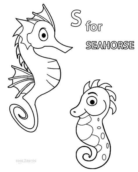 free mister seahorse coloring pages